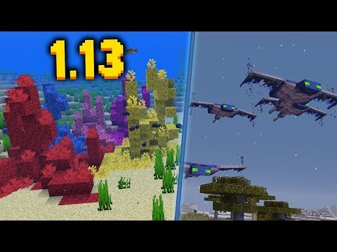 НОВЫЙ ФАНТОМ, ТРОПИЧЕСКИЕ РЫБЫ, КОРАЛЛЫ - Minecraft 1.13 СНАПШОТ 18w10a