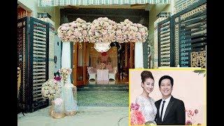 Lộ diễn không gian tiệc cưới nhà Trường Giang tại quảng nam chuẩn bị đón  cô dâu mới Nhã Phương.