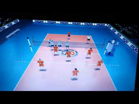 Удар в первую линию | Warm up in 3rd meter | Волейбол | Игра на компьютер | Volleyball on PC