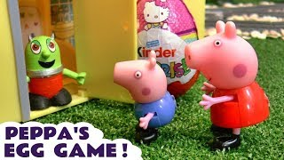 Learn Colors with a Peppa Pig game opening Kinder Surprise Eggs from a Rascal Funling TT4U