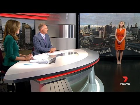 Seven News Melbourne - Jane Bunn's First Weather Report [8.12.14]