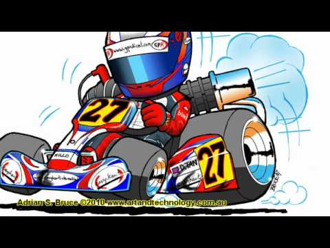 Racing Car Youtube Cartoon