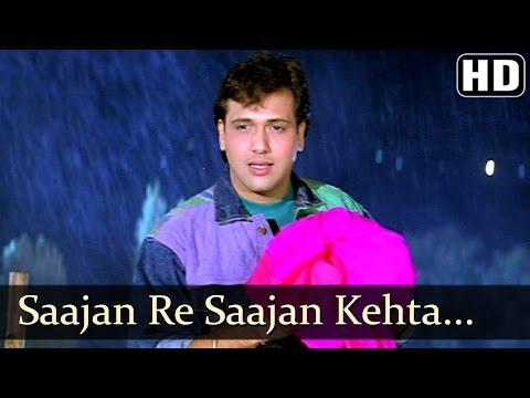 Saajan Re Saajan Kehta Hai Saawan - Govinda - Karishma Kapoor - Dulaara - Bollywood Monsoon Song thumbnail