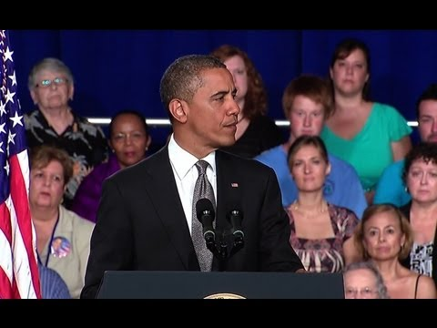 President Obama Speaks on the Shootings in Aurora, Colorado