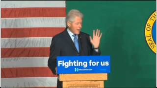 "Video clip Bill Clinton Slams Obama's ""Awful Legacy"""