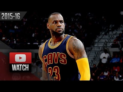 LeBron James Full Highlights at Pistons 2016 Playoffs R1G3 - 20 Pts, 13 Reb, 7 Ast