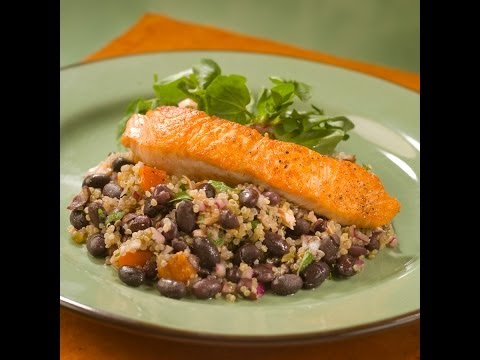 Roasted Salmon, Quinoa and Black Bean Salad