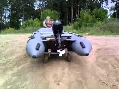 установка транцевых колес на касатку видео