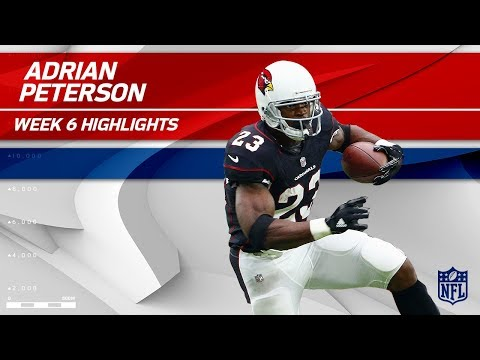 Adrian Peterson's 1st Game in a Cardinals Jersey! | Bucs vs. Cardinals | Wk 6 Player Highlights