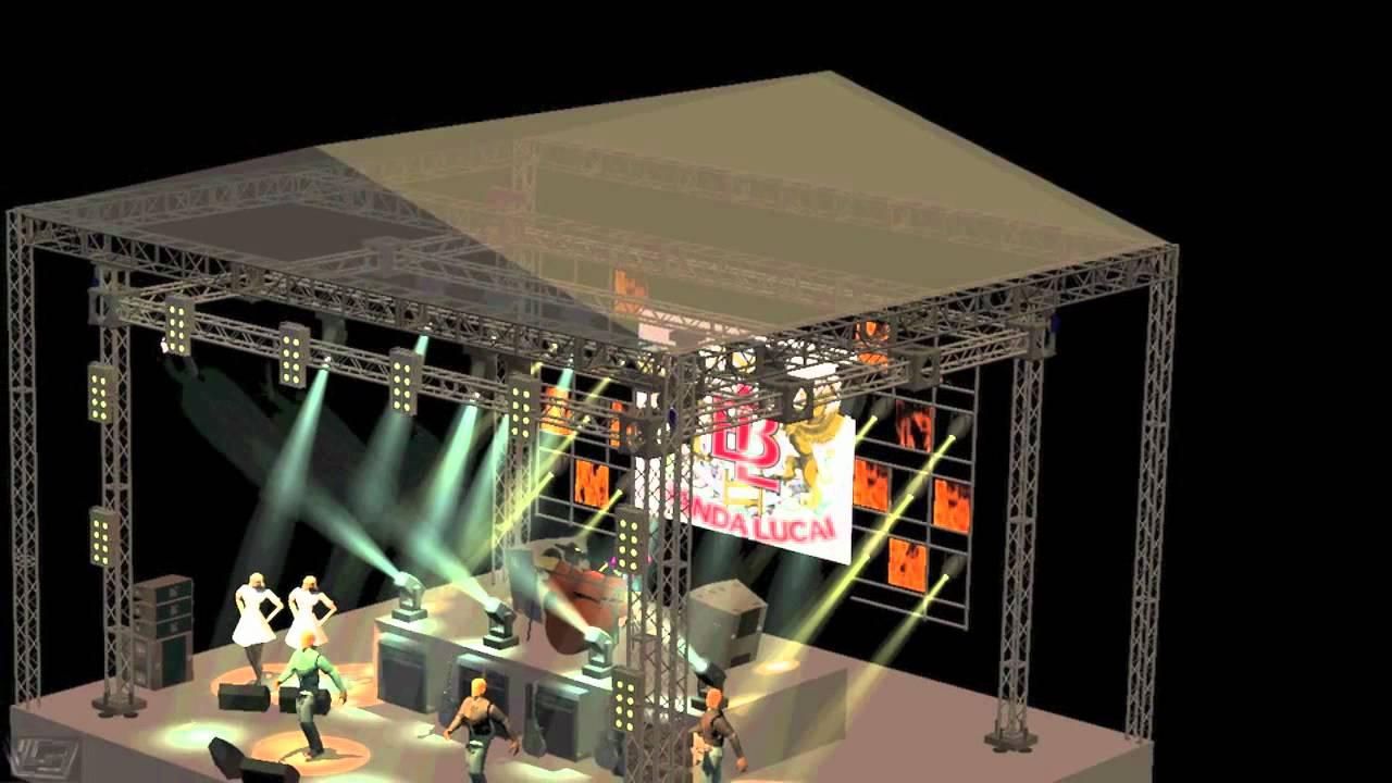 Mapa de palco 3D Banda Lucai - YouTube