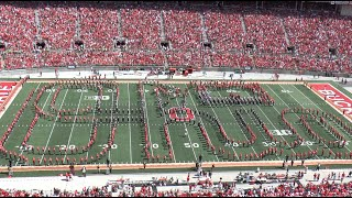 "Ohio State Marching Band ""Pictures, an Exhibition"" - Halftime Show vs. Bowling Green 9-3-16"