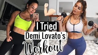 Download Lagu I TRIED DEMI LOVATO'S WORKOUT ROUTINE THIS IS WHAT HAPPENED Gratis STAFABAND