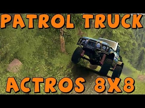 Spin Tires   Mod Reviews   Nissan Patrol Competition Truck and Mercedes Benz Actros 8x8