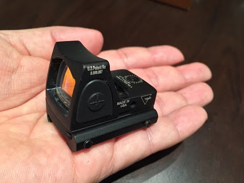 Crappy. Chinese. fake Trijicon micro red dot RMR holographic sight
