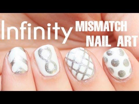 Mismatch Infinity Symbol Nail Art