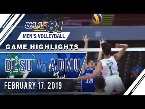 UAAP 81 MV: DLSU vs ADMU  Game Highlights  February 17 2019