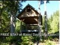 FREE STAY at Rainy Day Lake Hut on The sunshine Coast Trail Video