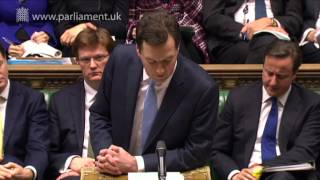 UK Parliament  - Chancellor delivers Budget Statement, 20 March 2013