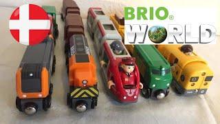 【tog legetøj】 5 forskellige Brio tog Brio tog Dansk Tog og Traktor (01992 z dk)