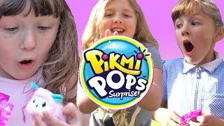 MAGIC PIKMI POPS SURPRISE TREE Surprises GROW ON TREES ! Pretend Play with Ava Isla and Olivia
