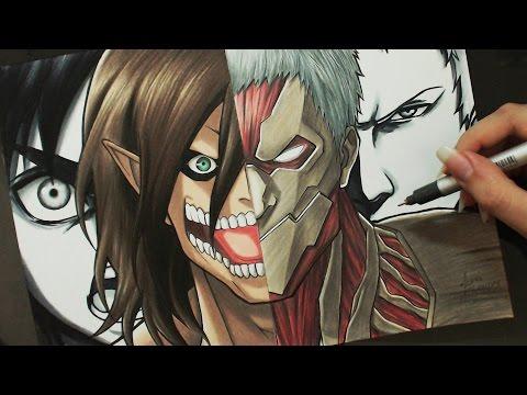 Speed Drawing - Eren | Reiner (Shingeki no Kyojin)