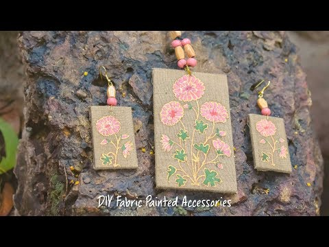 DIY Fabric Painted Accessories - YouTube