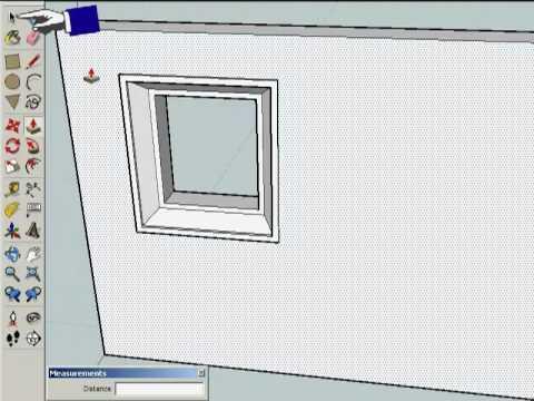 Google Sketchup ile Pencere Çizimi