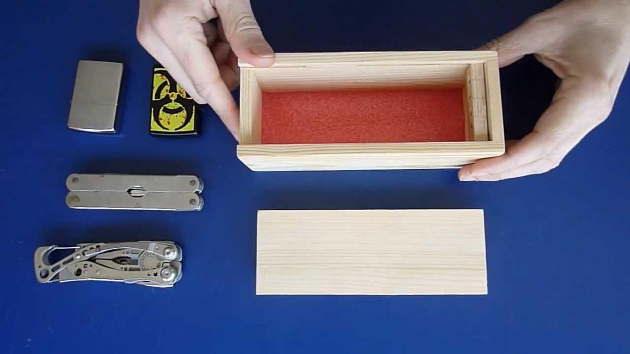 Haz una caja con cerradura secreta 2 modelo youtube - Hacer una caja de madera ...