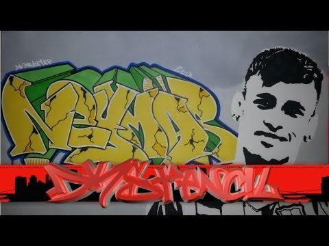 Neymar Graffiti Letters  & Stencil - Neymar da Silva Santos