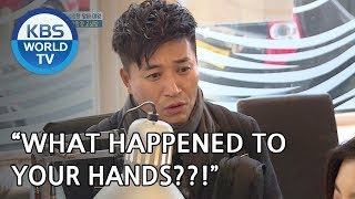 Jongmin is shocked by Sunbin's hands [One Night Sleepover Trip/ 2018.05.01]
