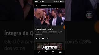 FINAL BBB18 GLEICI CAMPEÃ