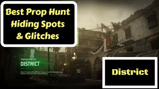 Call of Duty MWR Best Prop Hunt Hiding Spots & Glitches! (District)
