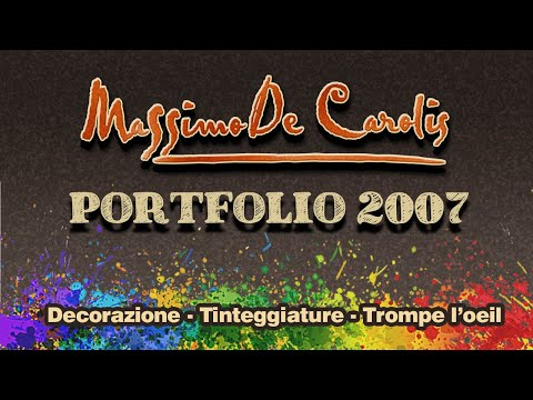trompe d oeil wallpaper. Video di immagini d'opere di trompe l'oeil e decorazioni dell'artista