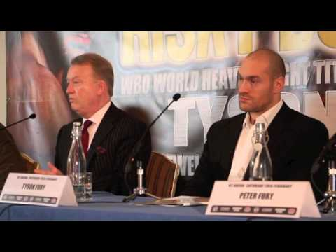 TYSON FURY & FRANK WARREN PRESS CONFERENCE TO ANNOUNCE O2 SHOW ON FEBRUARY 28TH 2015