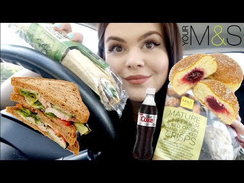 M&S CAR MUKBANG! EAT LUNCH WITH ME thumbnail