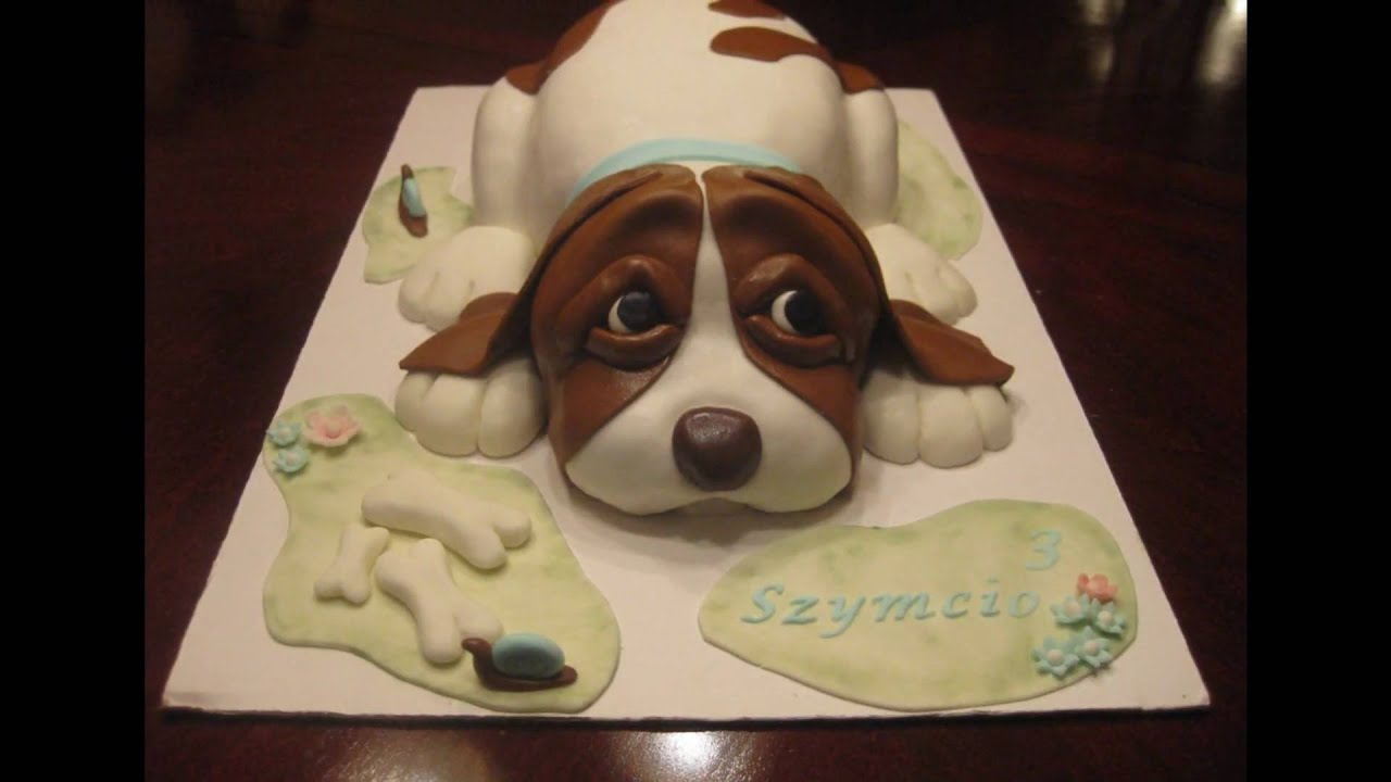 How To Make A Dog Cake Youtube