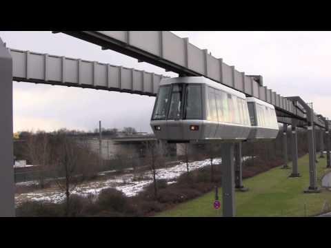 The Skytrain (H-Bahn) at Düsseldorf International Airport (DUS), Germany - 8th February, 2013