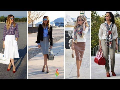 Мода 2018 для женщин 40 50 лет фото ???? Как одеваться стильно? Модные тенденции 50+ весна лето 2018