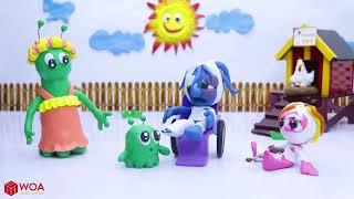CLAY MIXER FUNNY BABY GETS JEALOUS 💖 Play Doh Cartoons #WOAVIDEOS