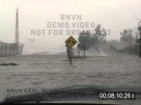 8/29/2005 Hurricane Katrina Flooding Video, POV drive through Metairie, LA. - Katrina Raw Master 24