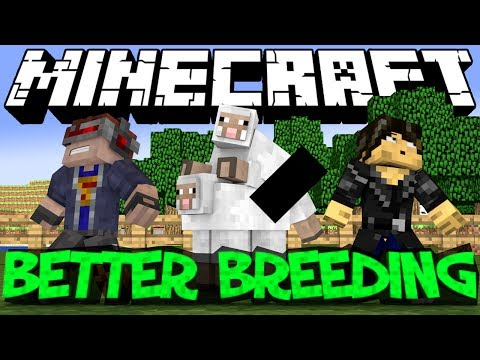 Minecraft Mod Showcase : Better Breeding Mod (EPIC ANIMALS)