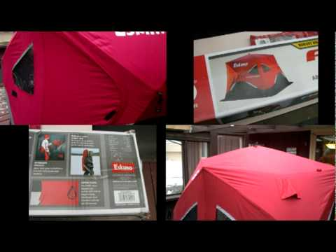 Ultimate portable ice fishing house build series the art of hyfax