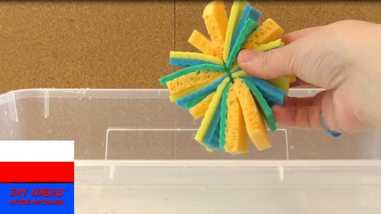 Piłeczka z gąbek do letniej zabawy w basenie   prosta zabawka do basenu