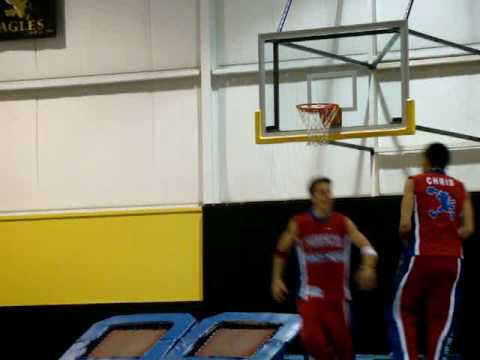 Pistons Hooper & the Flight Crew 4-man dunk at Skeels Christian School