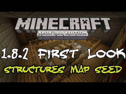 FIRST LOOK 1.8.2 | STRONGHOLDS MINESHAFTS RAVINES VILLAGES MAP SEED | Minecraft Xbox