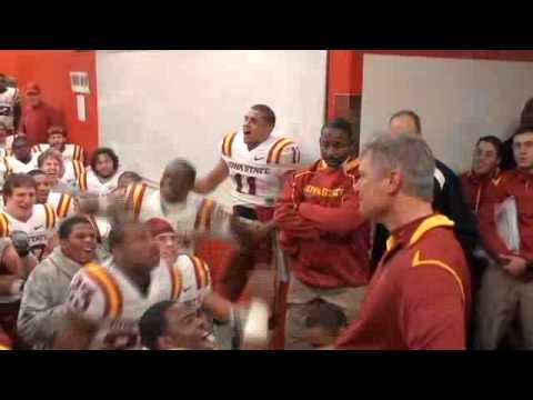 Iowa State postgame lockeroom celebration vs. Nebraska (10-24-09)