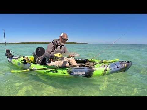 Kayak Fishing for bonefish in a Jackson Kayak Kilroy. Mr. Kilroy, meet Mr. Bonefish
