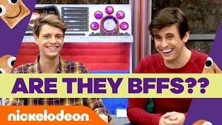 Jace Norman & Cooper Barnes Take the Nick Stars BFF Challenge 🏃💨 | Henry Danger | Nick