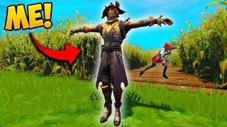 HIDING AS A *FAKE* SCARECROW! - Fortnite Funny Fails and WTF Moments! #345