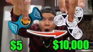 $5 FIDGET SPINNER VS $10,000 FIDGET SPINNER (REAL DIAMONDS)